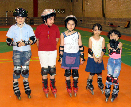 Young Skaters in Tehran