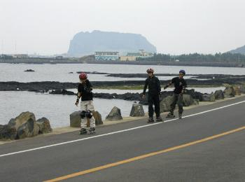 Inline Skating on Jeju Island in South Korea