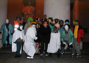 Halloween Skating in Vilnius Lithuania