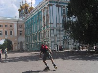 Oleg Skating in  Catherin Palace Square