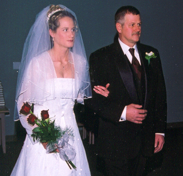 Theresa's Father Walking Her Down the Aisle