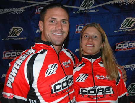 Chad Hedrick and Julie Glass